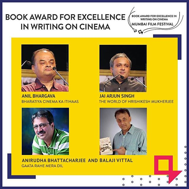 Book Award for Excellence in writing on Cinema Mumbai Film Festival